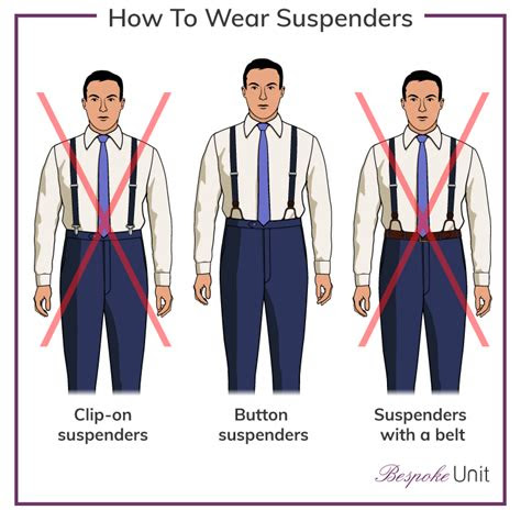 wear suspenders  guide  wearing mens braces