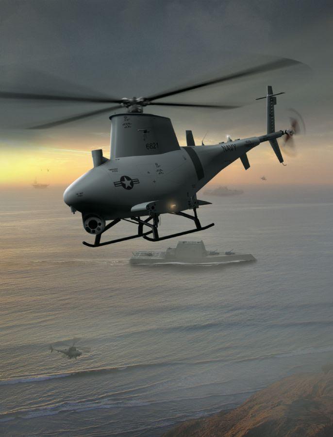 O MQ-8B já está a serviço da Marinha / Divulgação