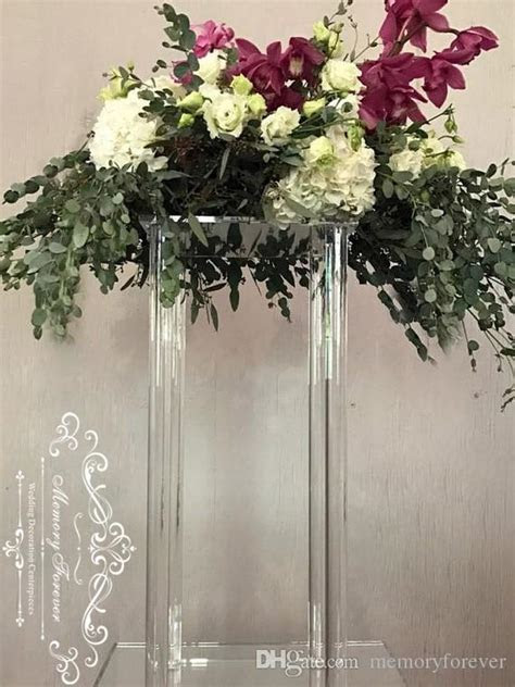 Acrylic Centerpiece Stands Clear Column Artificial Flower
