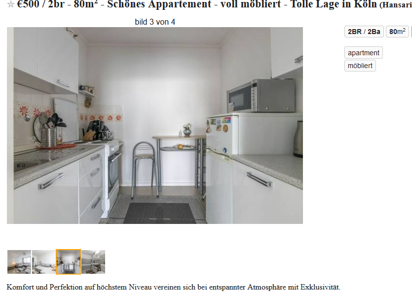 Rental scam mit berndsaenger for Appartement design 80m2