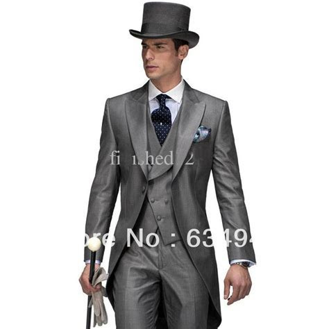 New Design Morning style Peak Lapel Groom Tuxedos