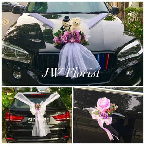 Bridal Car Decor Flowers Singapore   Wedding Car