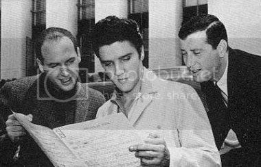 Jerry Leiber & Mike Stoller with Elvis Presley
