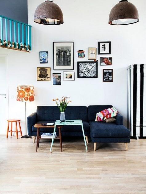 Ruang Tamu Interior Rumah Kecil Unik - Rumah Desain