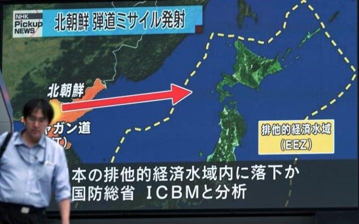Image result for North Korea Missile Crosses Air France Flight Path