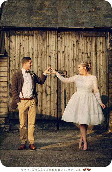 Vintage Heart Wedding Photos UK