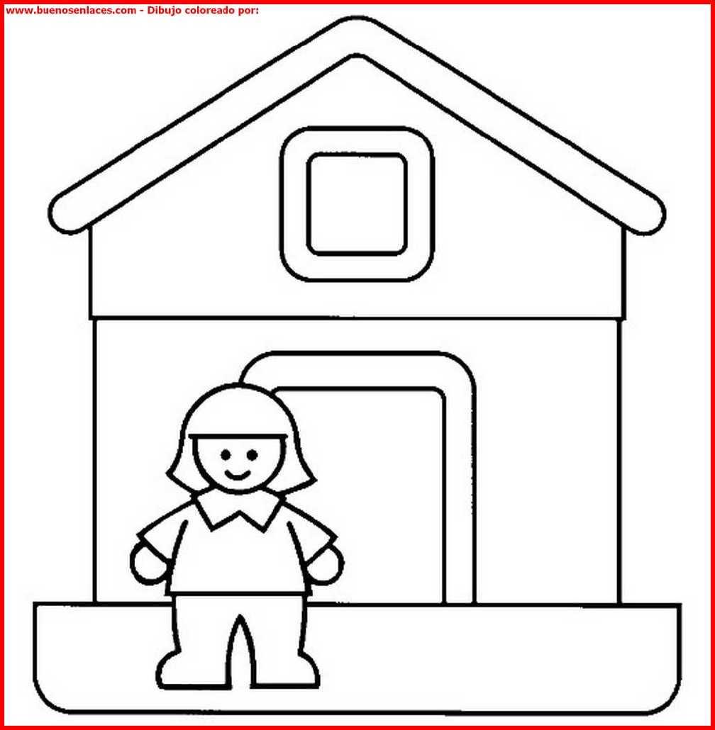 Dibujo De Casas Para Colorear E Imprimir