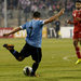Uruguay's Cristian Rodriguez scored a goal against Jordan on Wednesday