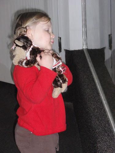 04.18.10 STL Zoo - Comforting her new baby monkey