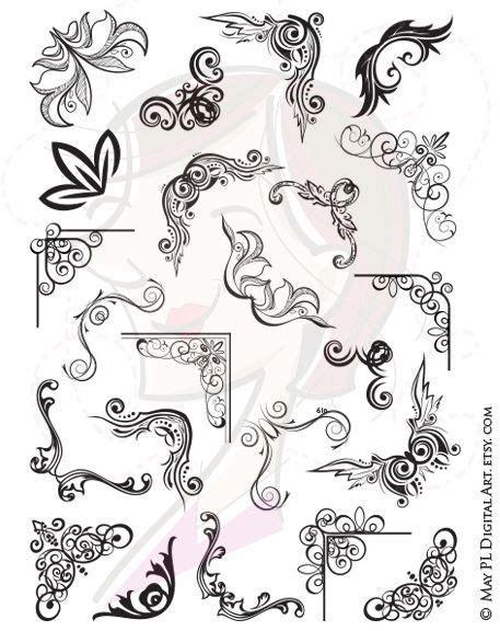 Frame Border Corners Digital VECTOR Clip Art Decorative