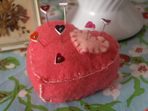 Pincushion with pins