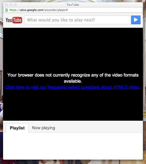 YouTube G+ Integration