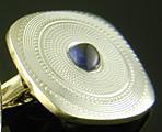 L.E. Garrigus sapphire cufflinks. (J9363)