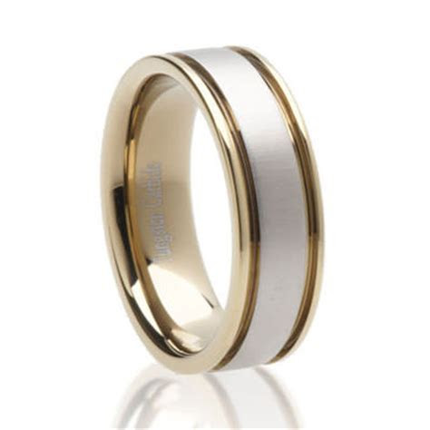 Two Tone Tungsten   Tungsten Carbide Wedding Rings