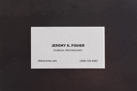 Bold Basic Letterpress Business Card Template ? Pike