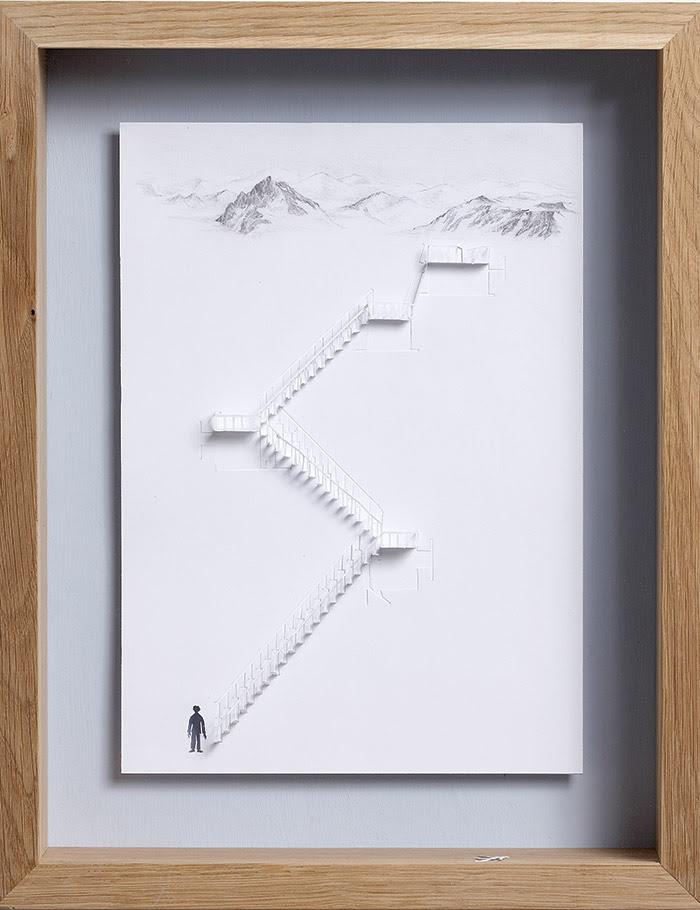 15 unter dem nebelmeer 11 25 Striking Framed Papercuts by Peter Callesen