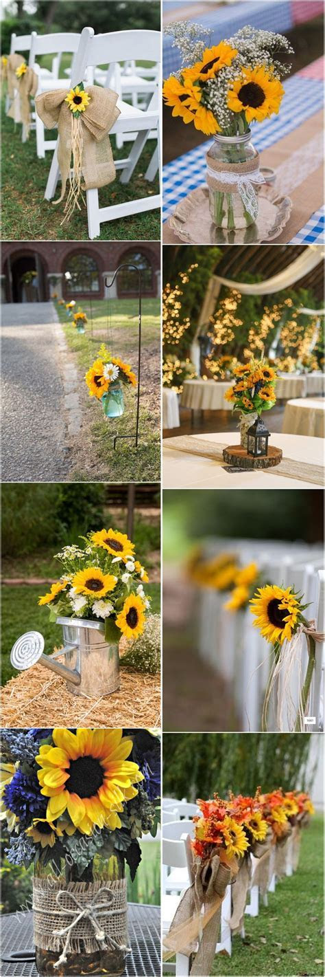 23 Bright Sunflower Wedding Decoration Ideas For Your