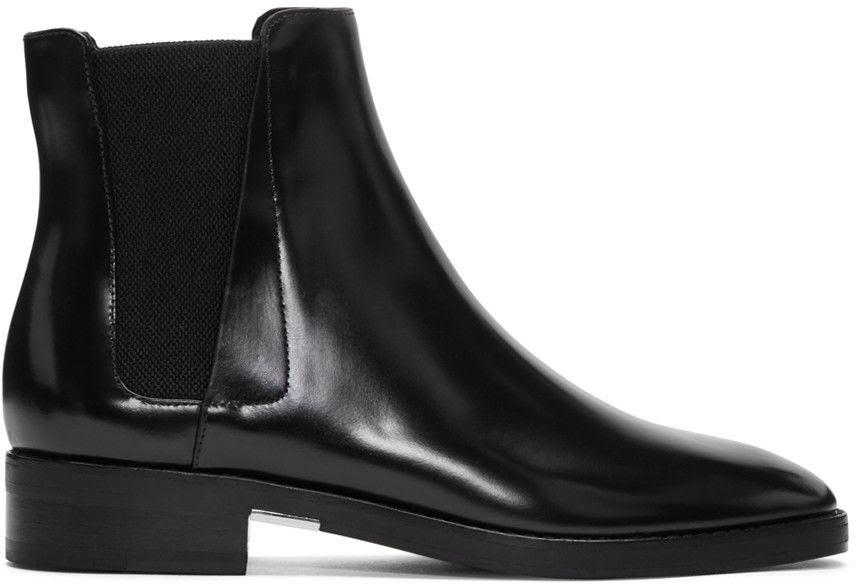 Alexander Wang Black Fia Chelsea Boots