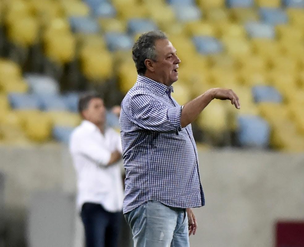 Abel elogiou desempenho de Richarlison no jogo contra o Grêmio (Foto: André Durão)