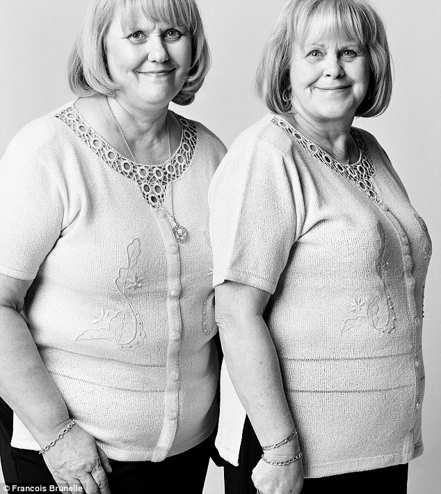 Separated at birth? Danielle Boucher (left) and Jovette Desmarais in Montreal in 2004