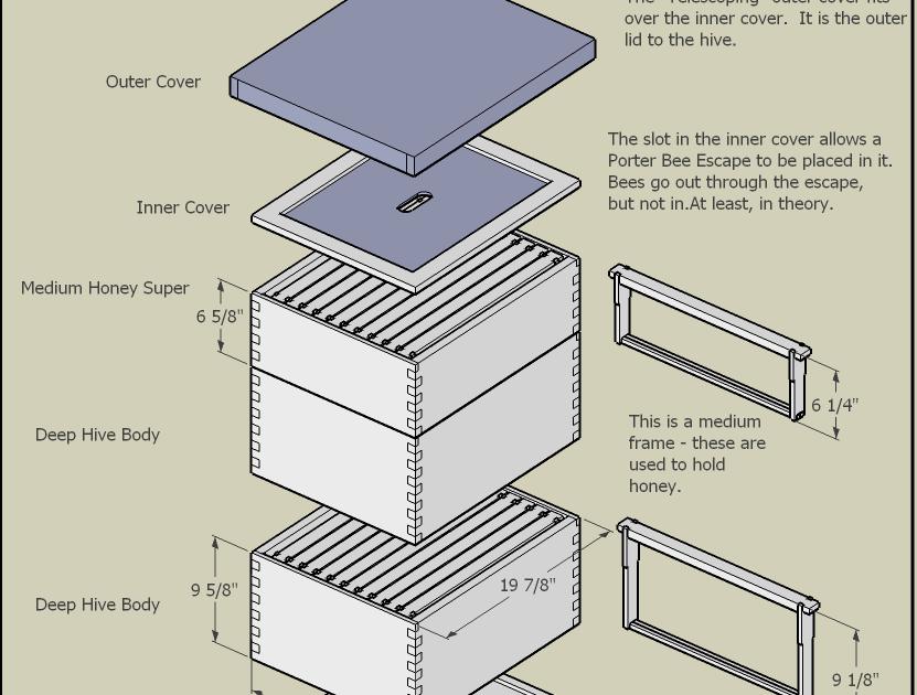 This is Langstroth hive plans metric ~ Wood