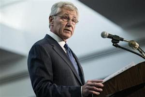 U.S. Secretary of Defense Hagel speaks at the NSA in Fort Meade