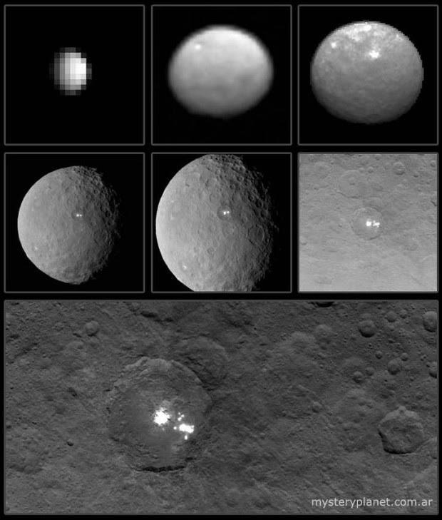 Progreso del acercamiento hacia el planeta enano Ceres.