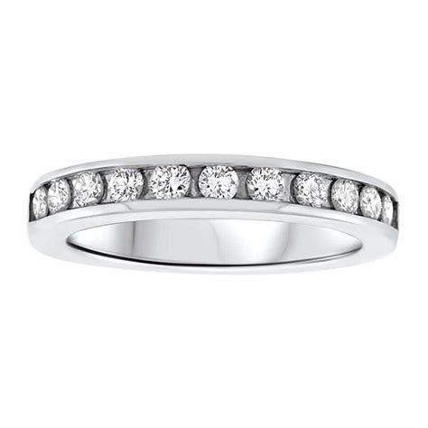 14kt White Gold Channel Set Diamond Wedding Band 0.50ct