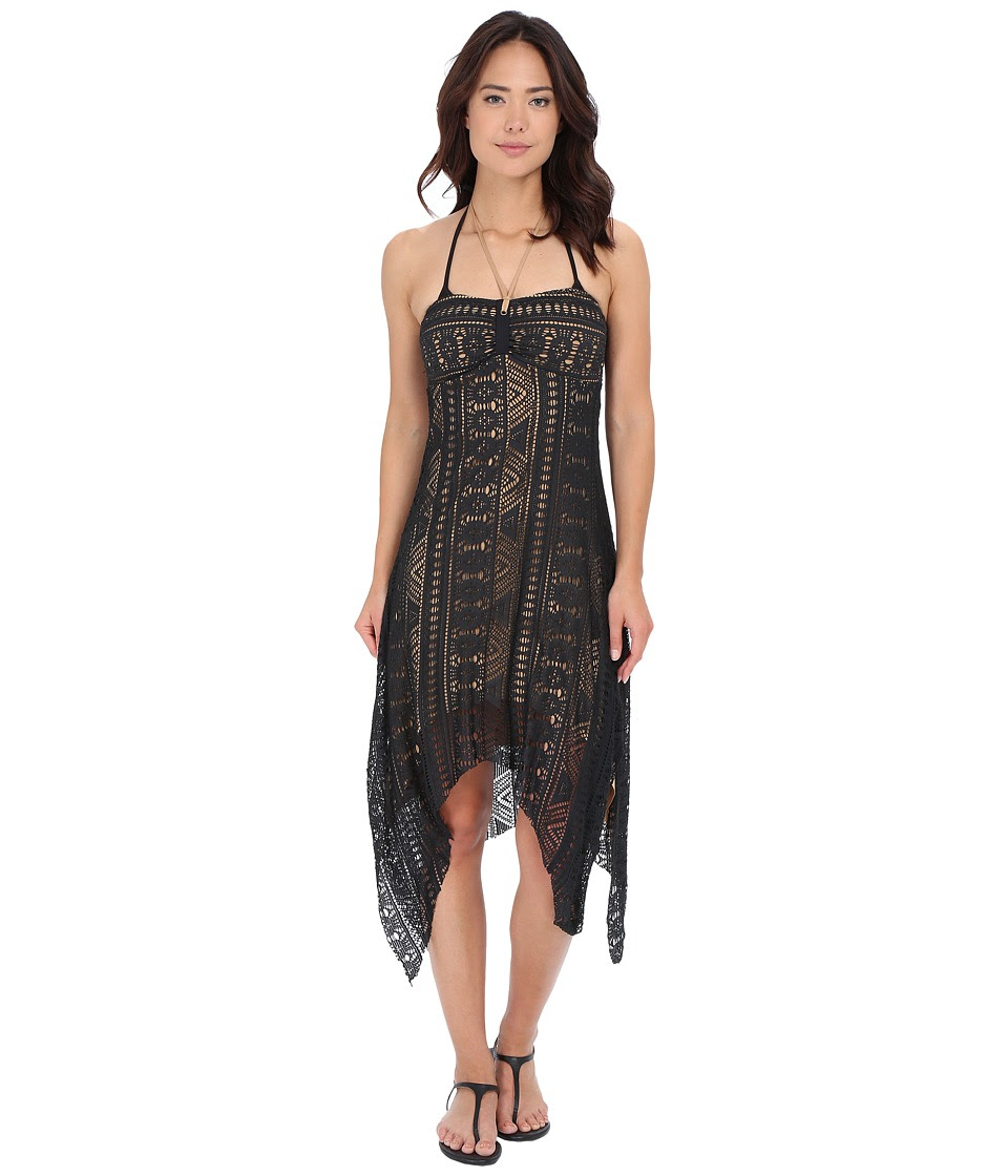 BECCA by Rebecca Virtue - La Boheme Dress Cover-Up (Black) Women's Swimwear
