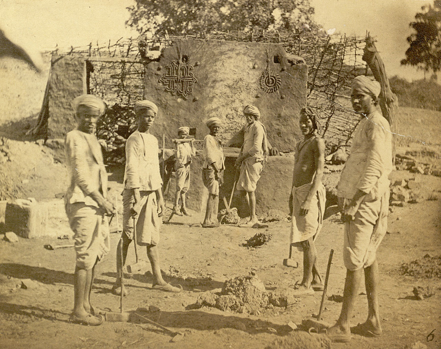 Copper and iron mining scenes, Alwar