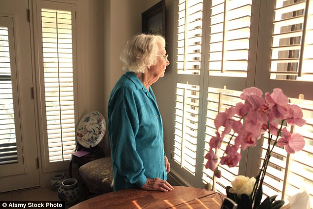 Unhappy: Studies have shown elderly people visited regularly by family are far less likely to be depressed