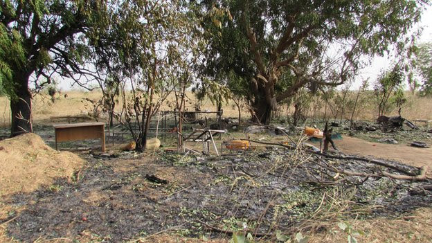 Makeshift camp in Buni Yadi