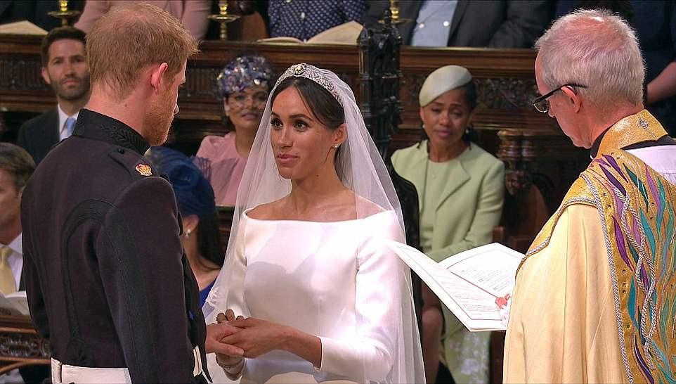 Meghan y Harry fueron declarados marido y mujer por el arzobispo de Canterbury Justin Welby