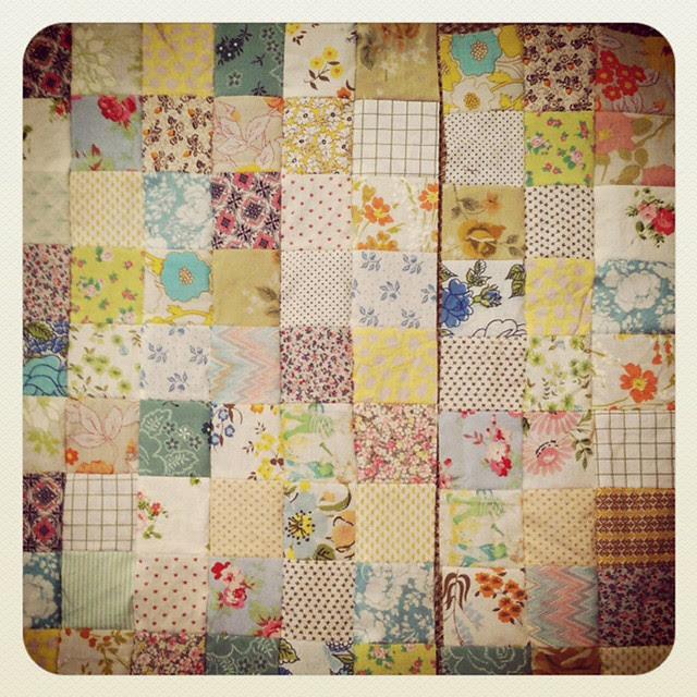 baby quilt for liz, in progress