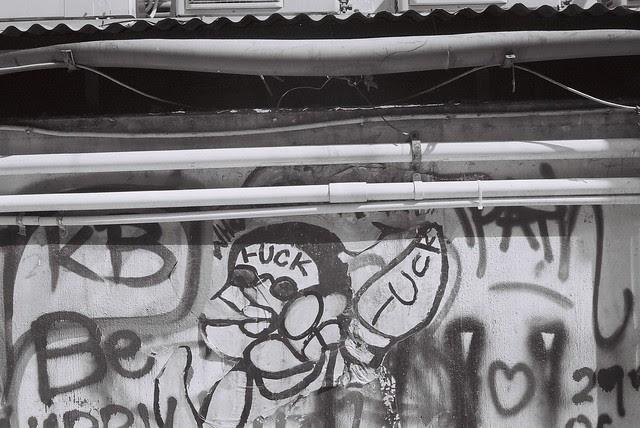 Pottinger Street in Hong Kong Grafitti