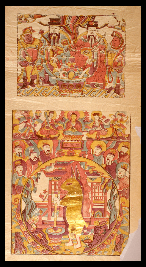 2 chinese folk religion scenes