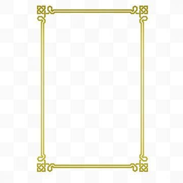 Golden Frame PNG Images   Vector and PSD Files   Free