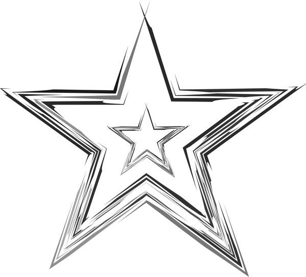 Sketsa Bergaya Abstrak Bintang Desain Vektor Vektor Abstrak Vektor