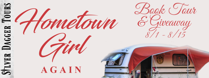 Book Tour Banner for the romance novel Hometown Girl Again from the Hometown series by Kirsten Fullmer with a Book Tour Giveaway