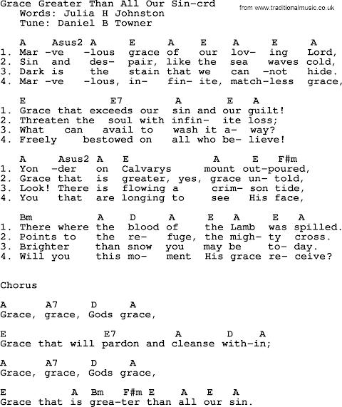 Grace Grace Gods Grace Lyrics Chords