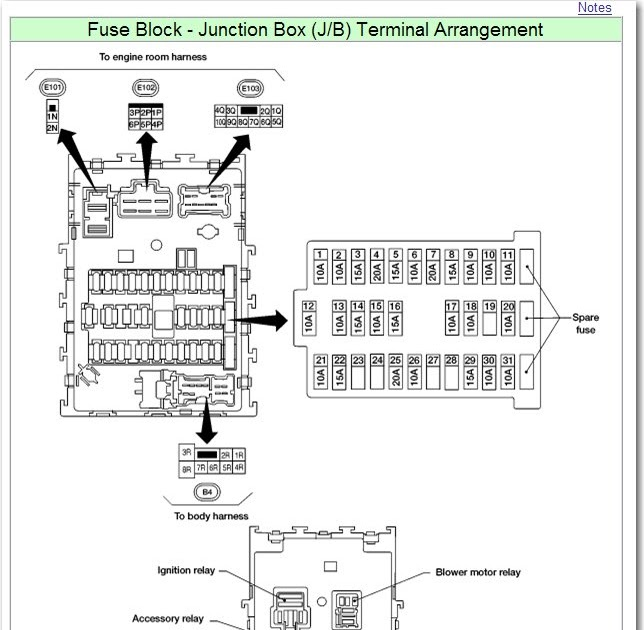2002 Nissan Sentra Gxe Fuse Box Diagram