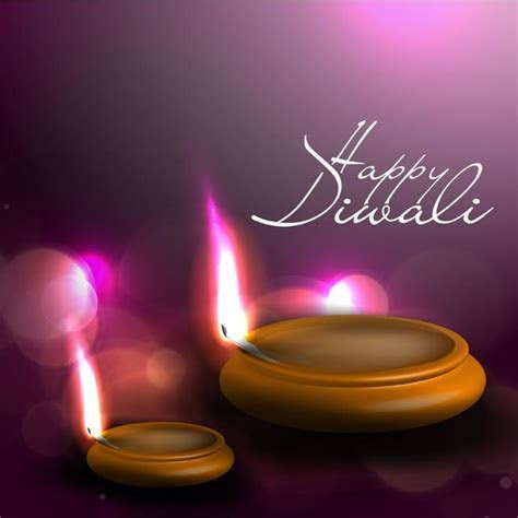 Abstract flame of diwali lamp on happy diwali template