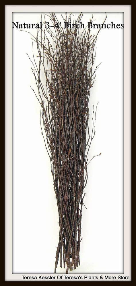25 Natural Birch tree branches Wedding table decor Birch