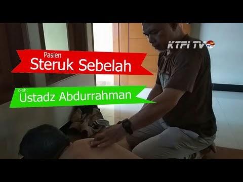 Pasien Struk Sebelah Badan di terapi totok punggung oleh Ustadz Abdurrahman