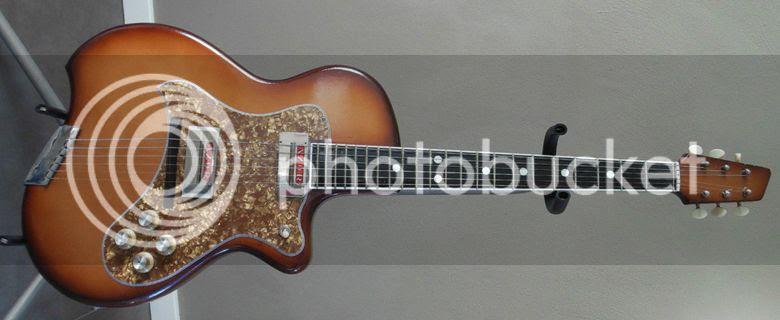 guitar blog weird azor singlecut offset waist guitar from 1950s 1960s europe possibly. Black Bedroom Furniture Sets. Home Design Ideas