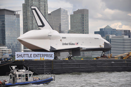 Shuttle Enterprise on the Hudson River