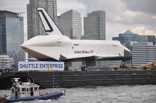 Shuttle Enterprise on the Hudson River