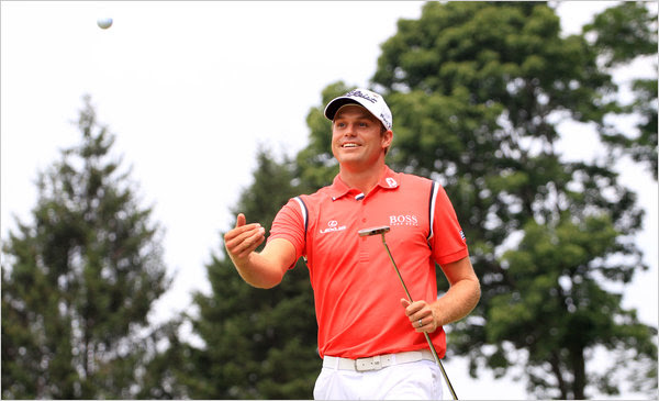 Nick Watney looks happy at the AT&T National