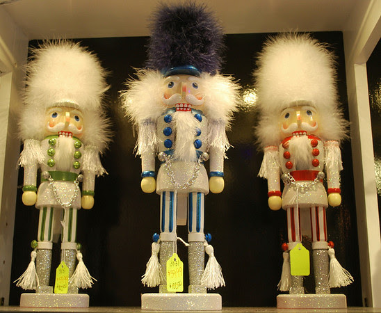 Fuzzy Christmas nutcrackers