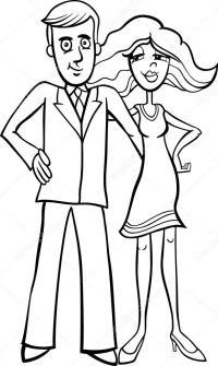 Colorea Tus Dibujos Siluetas De Hombre Y Mujer Para
